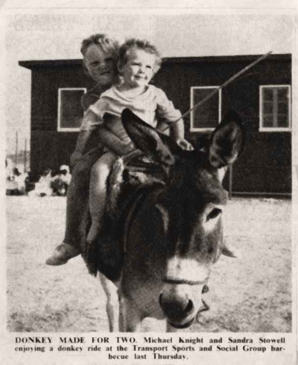 Photo of me at 3 yrs on a donkey!