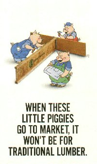Three Pigs with BCI Engineered Lumber